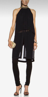AU99 • Buy Sass And Bide Out Here Layered Georgette Embellished Top In Navy Size 12