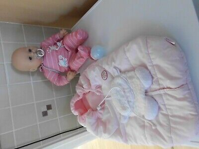 £23 • Buy Lovely Baby Annabelle Bundle Doll With Sound Sleeping Bag Bottle And Dummy