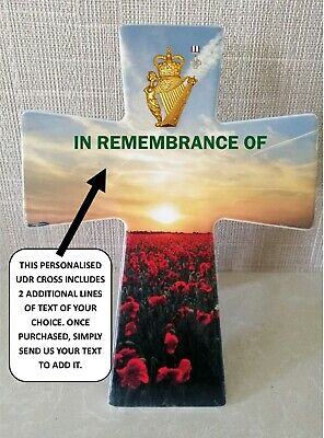 £16.99 • Buy UDR GCG Ceramic Remembrance Cross 200mm/8 Inches (Ulster Defence Regiment)