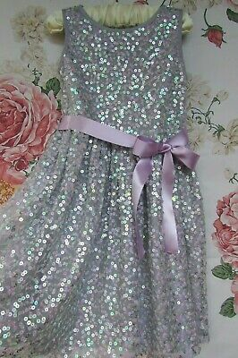 £14.99 • Buy Lilac Pink Sparkle Sequin Flower Girl Party Occasion Dress 2-3 MONSOON £48