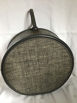 View Details Vintage 1950s Round Train Suitcase – American Tourister - Grey Tweed • 70$