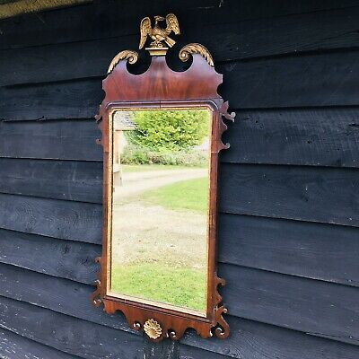 £295 • Buy 19thC Mahogany Mirror With Decorative Giltwood Griffin.