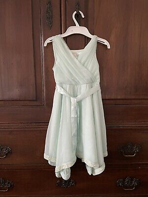 £15 • Buy Monsoon Flower Girl, Bridesmaids, Party Dress Age 7 Pale Mint Green