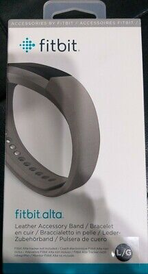AU13.90 • Buy Fitbit Alta Leather Accessory Band - Graphite, Large