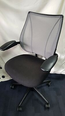 £169.99 • Buy Humanscale Liberty Black And Gray Ergonomic Office Chair With Arm Rests