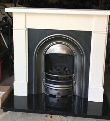 £150 • Buy Victorian Style Fireplace - Fan Assisted Coal Effect Gas Fire -No Chimney Needed