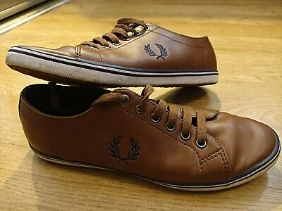 £15 • Buy FRED PERRY Brown Leather Casual Shoes UK 6/EU 39 Excellent Condition