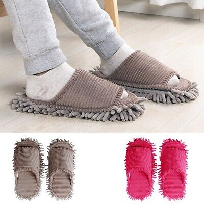 £13.13 • Buy 1Pair Mop Slippers Lazy Quick House Floor Polishing Dust Cleaning Open Toe Shoes