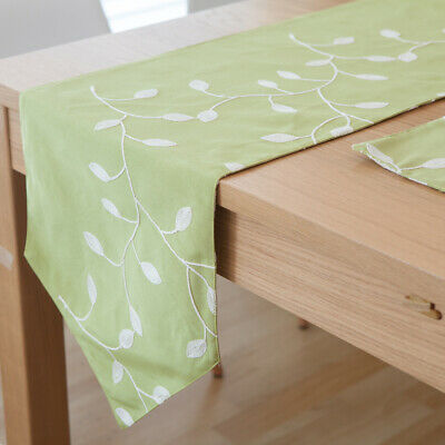 AU32.55 • Buy Leaves Cotton Linen Table Runner Tablecloth Placemats Party Dining Home Decor
