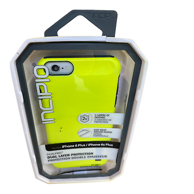 AU13.22 • Buy IPhone 6s Plus Case Lime Charcoal - Incipio Dual Layer Case For IPhone 6 Plus