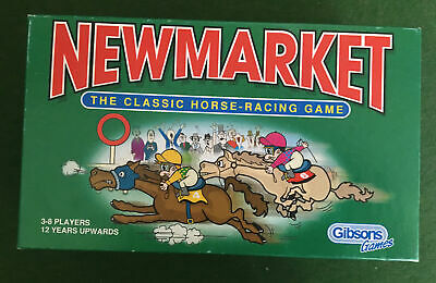 £11 • Buy NEWMARKET  CLASSIC HORSE RACING CARD / BOARD GAME By GIBSONS - COMPLETE