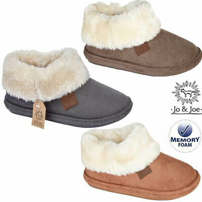 £16.95 • Buy Ladies Slippers Womens Memory Foam Fur Thermal Ankle Boots Warm Shoes Size