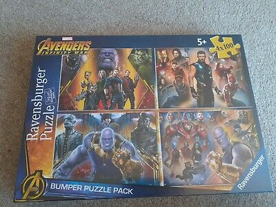 £6 • Buy Marvel Avenger Infinity War Bumper Puzzle Pack 4 X 100 Jigsaw Puzzles Brand New