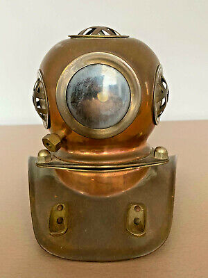 £139 • Buy Brass And Copper Divers Helmet - Rolex Watch Promotional Display