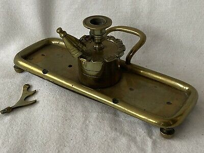 £14.95 • Buy Vintage Brass Candle Holder / Candlestick With Snuffer - Wee Willie Winkie