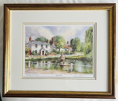 """£18 • Buy Terry Harrison Signed Print """"The Duck Pond"""" - Framed, Glazed And Ready To Hang"""