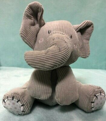 £8 • Buy Mothercare Grey Cord Elephant Soft Toy Plush Comforter From Birth Pram Toy 6