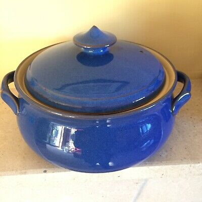 £14.50 • Buy Denby England Imperial Blue Casserole Dish With Lid Collectable VGC