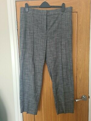 £10 • Buy M&S Freya Relaxed Straight Leg Charcoal Grey Trousers Size 18/20 Short READ DESC