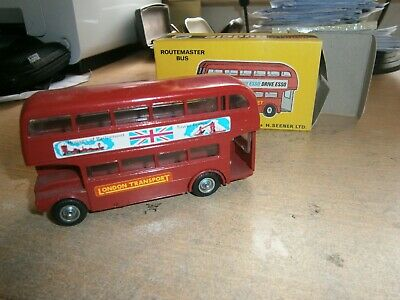 £7.99 • Buy Lot 2: Vintage Budgie Toys 236 AEC Routemaster Double Deck Bus, Boxed,
