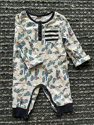 £9.99 • Buy Stella Mccartney Kids Romper With Tropical Parrot Print 6 Months Cotton