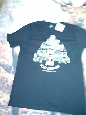 £9.99 • Buy BNWT Volkswagen Christmas T-shirt Black Size Large VW Perfect Gift