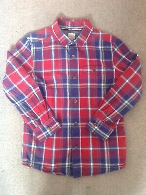 AU12.85 • Buy John Lewis Boys Checked Red & Blue Shirt Age 7 Immaculate Condition