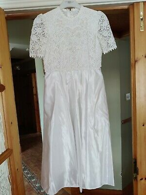 £49.99 • Buy First Holy Communion Dress Age 8, Incl Bag/gloves/veil