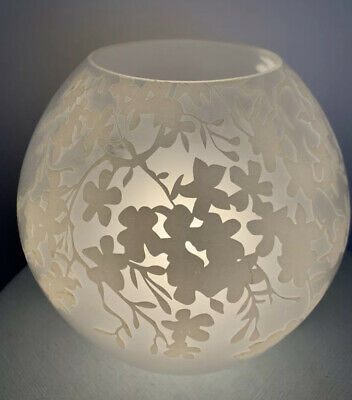 £7.26 • Buy IKEA Knubbig White Frosted Cherry Floral Large 6  Tall Globe Table Lamp Mushroom