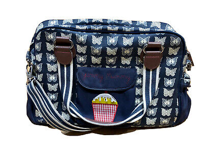 £17 • Buy Pink Lining Yummy Mummy Butterfly Changing Bag Navy & White + Zip Wet Bag