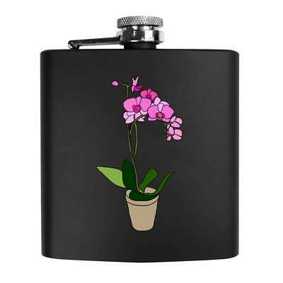 £14.99 • Buy 6oz (170ml) 'Potted Orchid' Pocket Hip Flask (HP00011624)