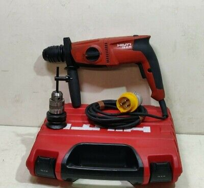 £120 • Buy HILTI TE2-M Hammer Drill & Drill  SDS+ 110v In Case With Extra 3 Jaw Chuck