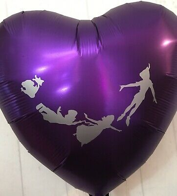 """£5.99 • Buy Peter Pan 18"""" Foil Heart Helium Balloon Party Decoration Tinkerbell"""