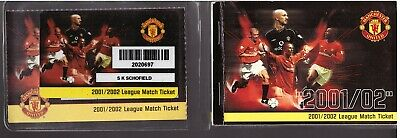 £4.99 • Buy Manchester United Season Ticket Book 2001/02 Plastic Wallet & Card