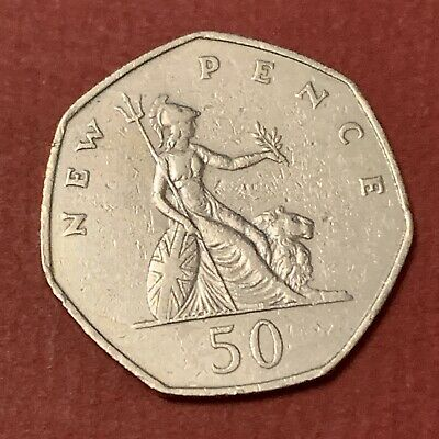 £0.06 • Buy 1969 Britannia 50p Fifty Pence Coin Large Size  N144