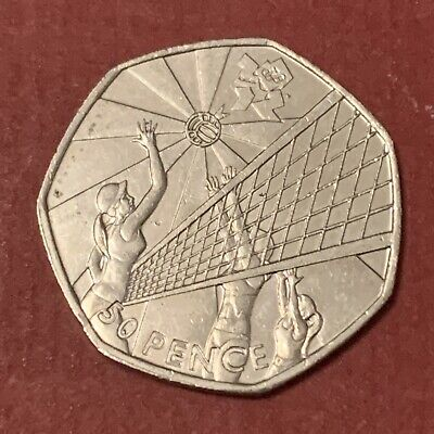 £0.01 • Buy 2011 Olympic 50p Fifty Pence Coin 2012 London Games Volleyball N38