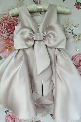 £24.99 • Buy NWT Dusky Pink VIERA Flower Girl Bridesmaid Party Occasion Dress 2-3 MONSOON £50