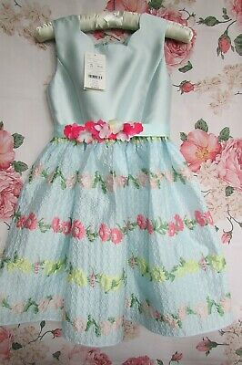 £24.99 • Buy BNWT Blue Floral ARIELLA Flower Girl Party Occasion Dress 9-10 MONSOON  £60