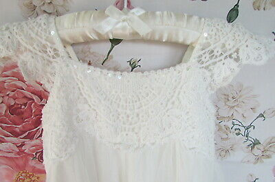 £14.99 • Buy Ivory Cotton Estella Lace Flower Girl Party Occasion Dress  Age 4 MONSOON £55