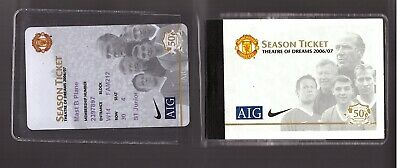 £3.99 • Buy Manchester United Season Ticket Book 2006/07 Plastic Wallet & Card