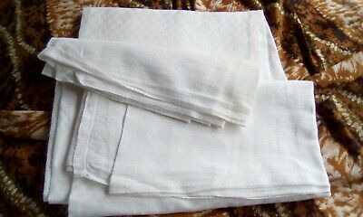£12 • Buy French Vintage White Linen Tablecloth