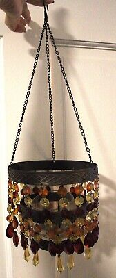 £9.43 • Buy Pier 1 Import Hanging Beaded Colorful Candle Holder Chandelier
