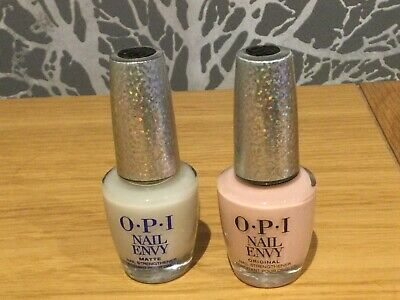 £15 • Buy Two New OPI Nail Envy Nail Strengthener Full Size 15ml Matte And Bubble Bath