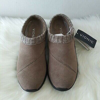 £38.48 • Buy Vionic Arbor Women's Clogs Slip On Shoes Size 7 Taupe Comfort Orthaheel Tech NWT