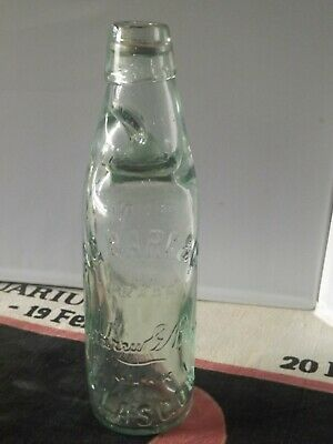 £19.99 • Buy 1930s A.G Barr & Co Glasgow Vintage Glass Bottle With Marble In Neck 9.inch Tall