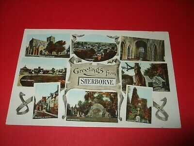 £0.99 • Buy Early Frith's Multi View Postcard Of Sherborne