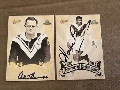 AU120 • Buy Norm Provan & Arthur Summons Signed 2008 Centenary Nrl Trading Cards St George