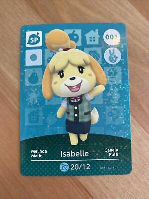 AU1.99 • Buy Authentic Animal Crossing Amiibo Card Series 1 Isabelle 001
