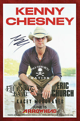 $22 • Buy Kenny Chesney Autographed Concert Poster 2013