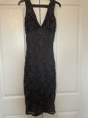 £4.20 • Buy Quiz Evening : Body Con Party Dress Size 12 Cut Out Back Detail
